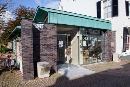 Mueum Dorestad in het nederlands stadje Wijk bij Duurstede Stockfoto - 32968400