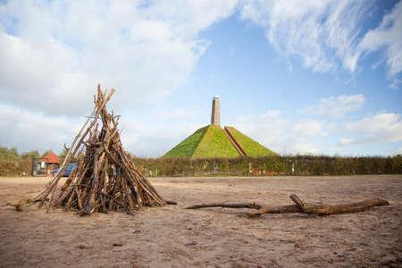 austerlitz: pyramid of Austerlitz on Utrechtse Heuvelrug in the Netherlands