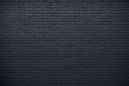 horizontale deel van de zwarte geschilderde bakstenen muur