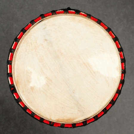 アフリカのドラムが伝統的な正方形の画像のクローズ アップ 写真素材