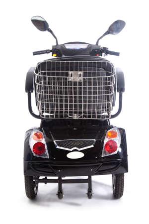 MOTORIZADO: transporte motorizado fot personas mayores o con discapacidad física Foto de archivo