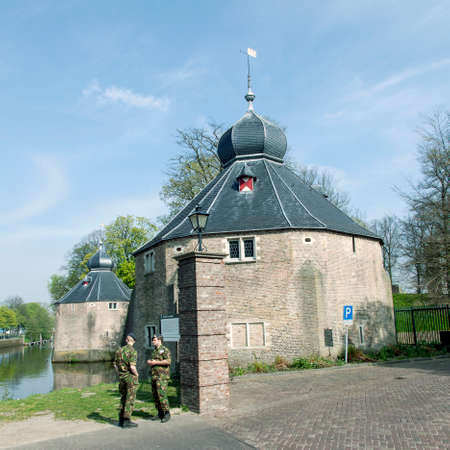 academie: old defense buildings near military academy in dutch town of Breda
