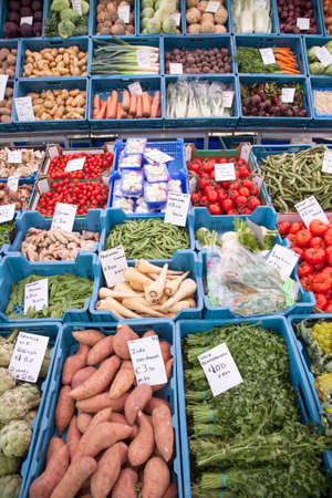 breda: Fruit and vegetables on market in the dutch city of Breda