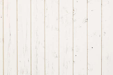 wooden boards: white fence made out of vertical wooden planks Stock Photo