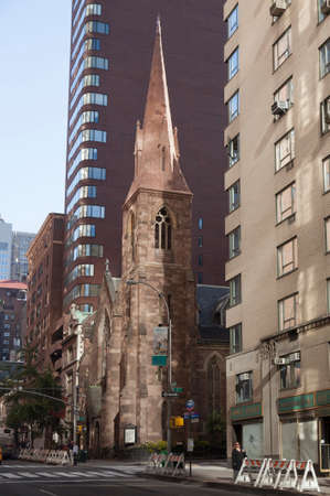 incarnation: Church of the Incarnation in new york city on 209 Madison Ave in reflected light