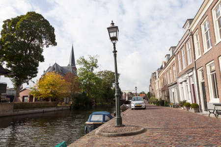 houses along river Vecht in the dutch village of Maarssen in the netherlands