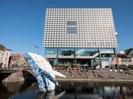 modern concert building of tivoli vredenburg in dutch city of utrecht on sunny day with plastic whale built by StudioKCA Stock fotó