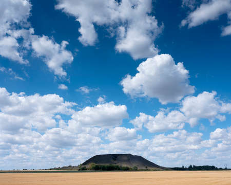 slag heaps between lens and arras in the north of france