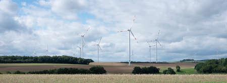 fields and wiind turbines in german eifel Reklamní fotografie