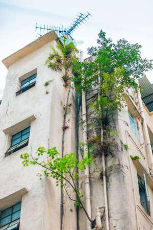 old  buildings: Old buildings in Hong Kong