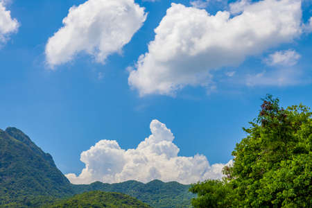 cloudscape: Cloudscape in countryside, Summer, Asia