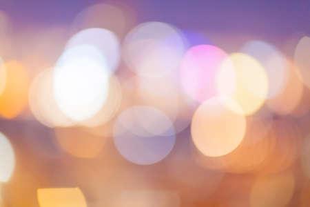 hong kong night: Abstract Blurry lights image of city at night Stock Photo
