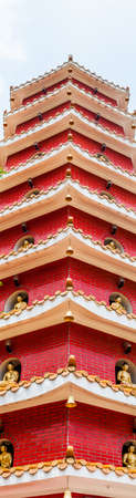 temple tower: Old temple tower in Hong Kong