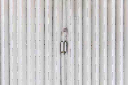 locked: Locked metal gate, close up