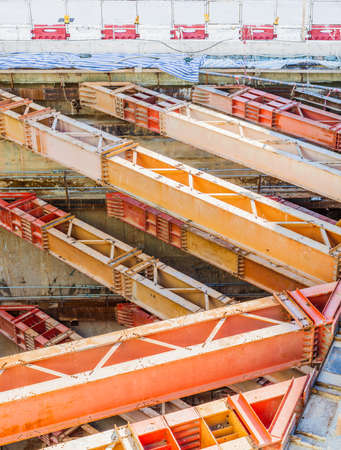 buildingsite: construction site of underground train station, nobody