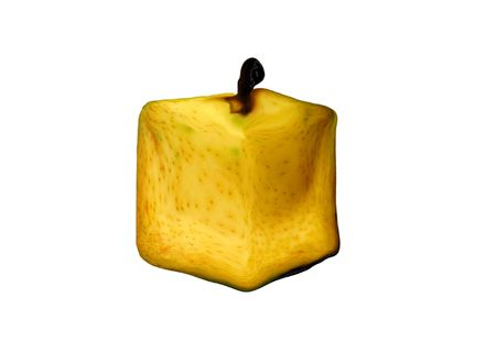 pear squared on white bottom Stock Photo