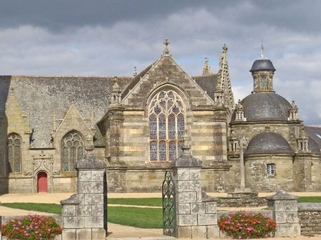 church of Pleyben in Brittany, France,