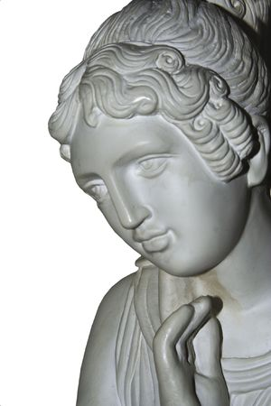 bust of plaster, head of woman,