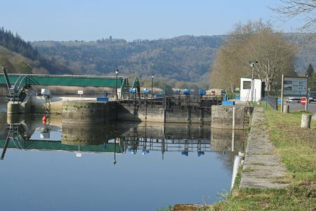 France, Brittany, Locks on the channel from Nantes to Brest