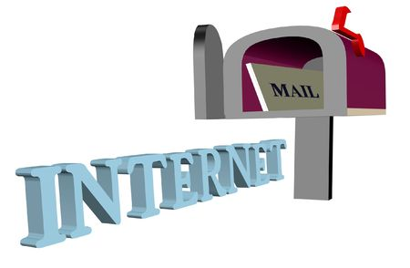 clipart 3d, mail, internet, Stock Photo