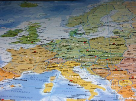 geographical card, europe, Stock Photo