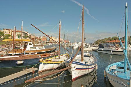 Small port of Sardinia Stock Photo
