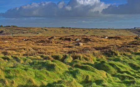 Landscape of Brittany, France,