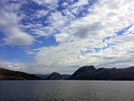 Norwegian Coastal Fjord 스톡 콘텐츠