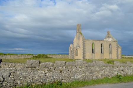 Verlaten kerk Stockfoto