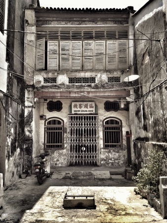 penang: Old shop house in Georgetown Penang