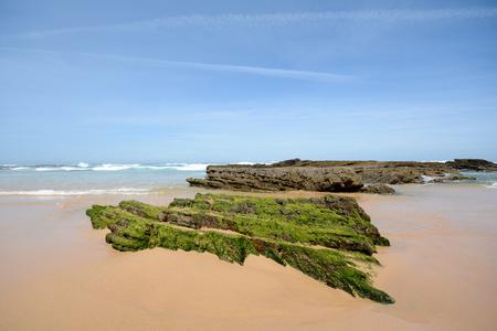 coastline: Algarve: Praia da Arrifana Beach Coastline with rocks at low tide Atlantic Ocean Portugal Europe