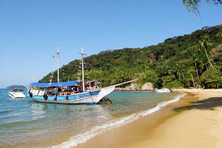 Ilha Grande: Sailboat at beach Praia Lopes Mendes Rio de Janeiro State Brazil