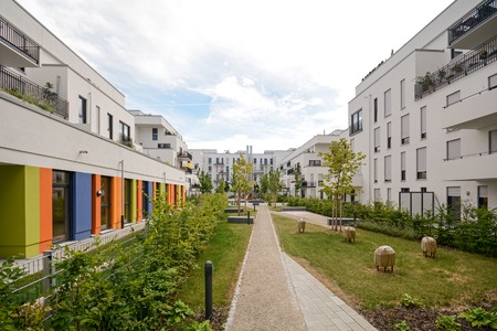 Modern housing in the city