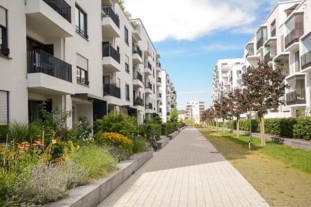 apartment       buildings: Modern housing in the city