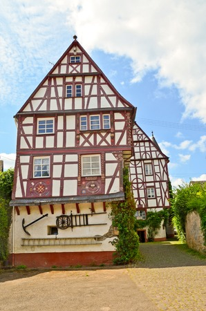 timbered: Moselle Valley Germany: Timbered house in Puenderich
