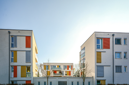 Modern housing in the city - urban residential buildings