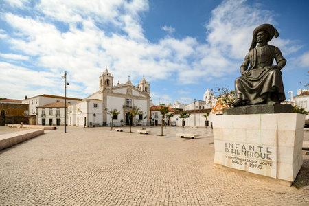 View to church Igreja de Santo Antonio in the old town of the historic centre of Lagos, Algarve Portugal Editorial