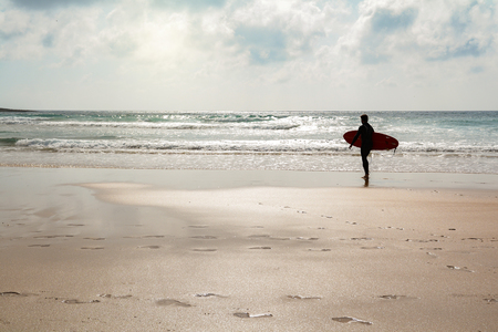 Praia do Amado, Beach and Surfer spot, Algarve Portugal Stock Photo