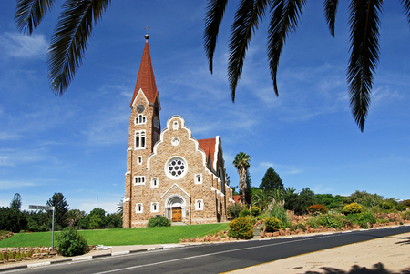 Christuskirche - Christ Church, historic landmark in Windhoek, Namibia  Africa