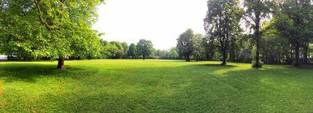 Terreno edificable para proyecto de nueva construcción en prado verde, parcela para área de construcción Foto de archivo