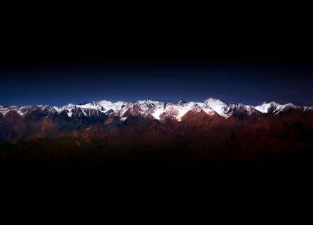 xinjiang: Neige montagne
