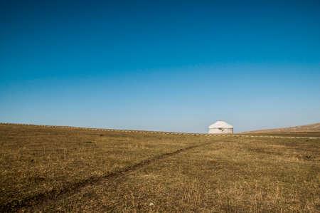 Yurts on the prairie photo