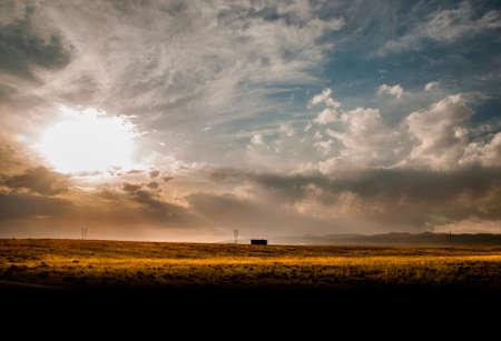 loess: Prairie sky Stock Photo