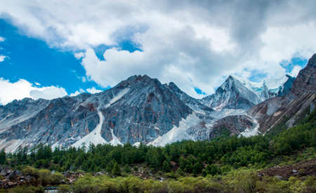 aden: Glacier Inagi Aden nature reserve, Sichuan, China