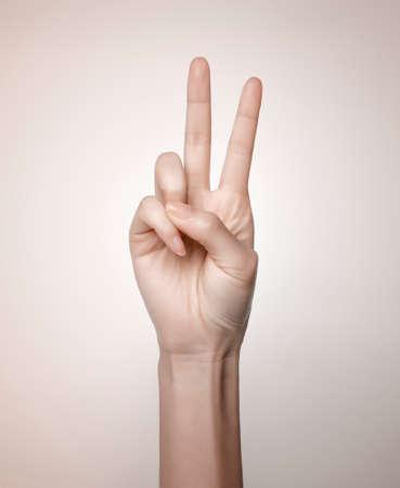 gestures: Hand gestures Stock Photo