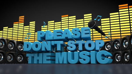 Do not Stop The Music Stock Photo - 10855984