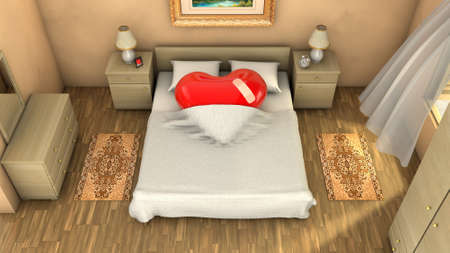 romance bed: Somebody will miss the valentine