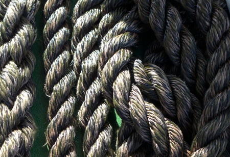 the mooring: Mooring rope Stock Photo