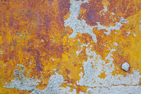 oxidized: The Rust Wall Stock Photo