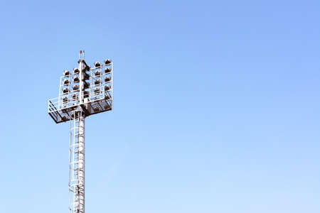 Stadium lights with sky for background Stock Photo